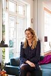 ROSA INTERIØR: Fie vil at hjemmet skal være et sted der familien kan slappe av og ha det koselig. FOTO: Stylesystemet